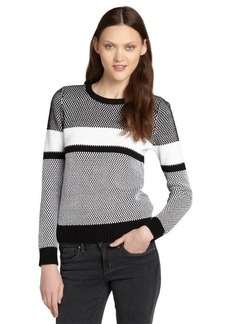French Connection black and white cotton 'Pretty Penelope' sweater