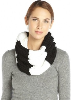 French Connection black and white knit striped snood scarf