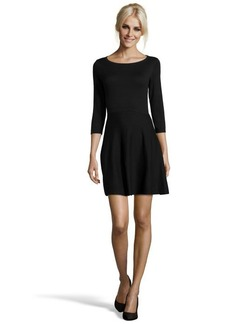 French Connection black cotton blend 3/4 sleeve sweater dress