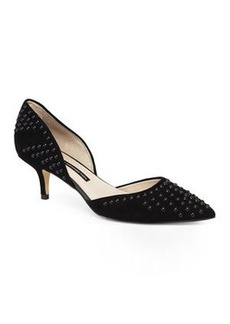 french connection Black Efina Studded d'Orsay Pumps