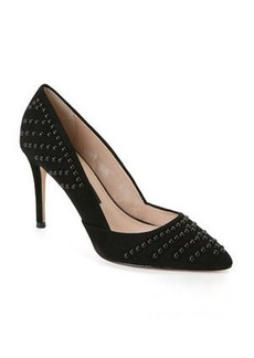 french connection Black Elmyra Studded Pumps