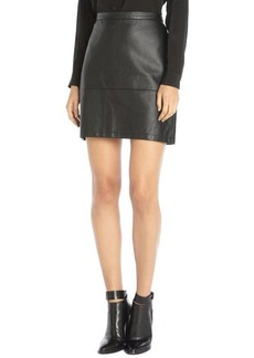 French Connection black faux leather 'Athena' mini skirt