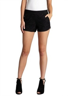 French Connection black lace pocketed 'Gigliola' mini shorts
