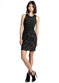 French Connection black spiegal sequined sleeveless party dress