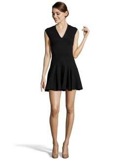 French Connection black stretch knit 'Classic Marie' circle skirt dress