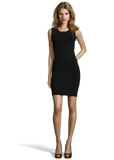 French Connection black stretch knit 'Mary Mesh' side panel sleeveless dress