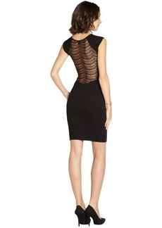 French Connection black stretch lace detail 'Dani' sleeveless dress