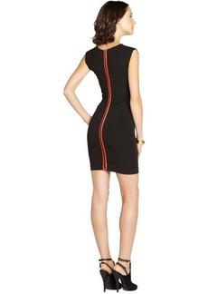 French Connection black stretch 'Monique' cap sleeve dress