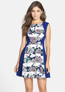 French Connection 'Bonita' Print Crepe Fit & Flare Dress