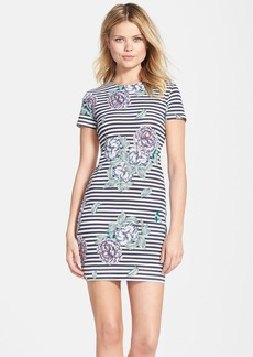 French Connection 'Bonita' Stripe Floral Body-Con Dress