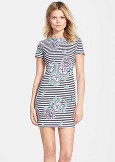 French Connection 'Bonita' Stripe Floral Body-Con Dress