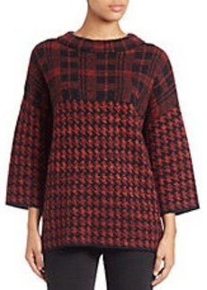 FRENCH CONNECTION Boxy Checked Sweater