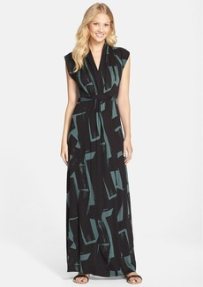 French Connection Brushstroke Print Jersey Maxi Dress