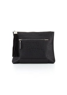 French Connection Camden Suede-Tassel Clutch Bag