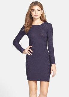 French Connection Camouflage Jacquard Body-Con Dress