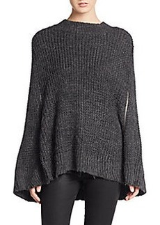 French Connection Cara Mixed-Knit Cape