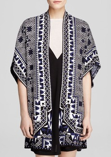 FRENCH CONNECTION Cardigan - Geo Jacquard Kimono