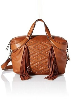 French Connection Cassidy Satchel Convertible Shoulder Bag, Nutmeg, One Size