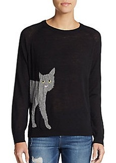 French Connection Cat Intarsia Sweater