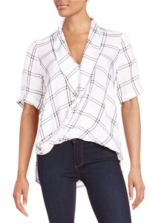 FRENCH CONNECTION Checked Drape Top