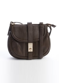 French Connection chocolate faux leather 'Atti' stachel shoulder bag