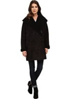 French Connection Cocoon Shearling Zip Front Coat
