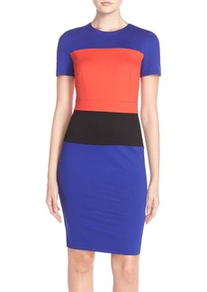 French Connection Colorblock Jersey Sheath Dress
