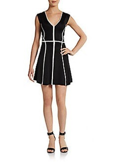 French Connection Contrast-Seam Fit & Flare Dress