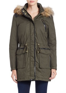 FRENCH CONNECTION Convertible Faux Fur-Trimmed Parka