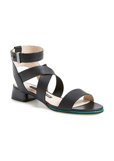 French Connection 'Corazon' Elastic & Leather Strap Sandal (Women)