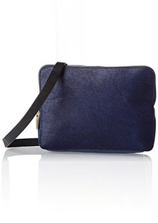 French Connection Cosmic Hair Triple Zip Cross Body Bag,Navy Hair,One Size