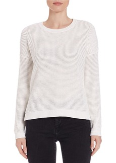 FRENCH CONNECTION Cotton Hi-Lo Thermal Sweater