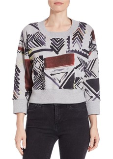 FRENCH CONNECTION Cropped Tribal-Print Top