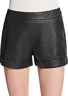 French Connection Cult Cuffed Faux Leather Shorts