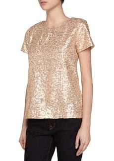French Connection Cupid Mini Sequins Tee, Cupid