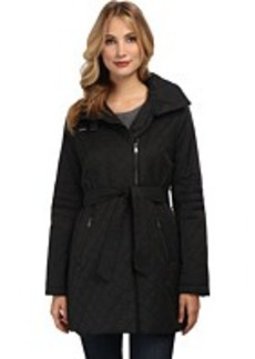 French Connection Cutaway Rain w/ Stand Collar Coat
