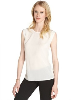 French Connection daisy white stretch 'Polly' classic sleeveless tee