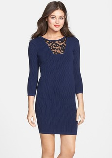 French Connection 'Dannie Ludo' Knit Body-Con Dress