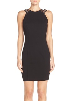 French Connection 'Dark Angel' Embellished Ponte Sheath Dress