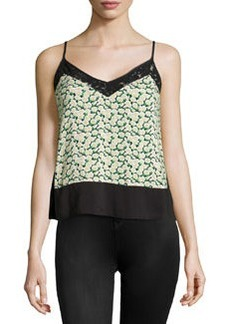 French Connection Desert Tropicana V-Neck Tank, Black/Multi