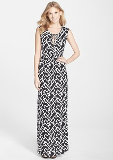 French Connection 'Downtown Grid' Cutout Maxi Dress