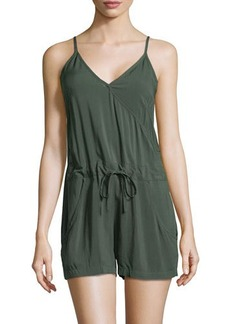 French Connection Drawstring V-Neck Romper