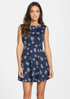 French Connection 'Eddy' Floral Print Fit & Flare Dress