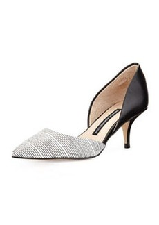 French Connection Effie Pump, Black/White