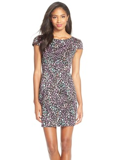 French Connection 'Electric Leopard' Stretch Cotton Sheath Dress