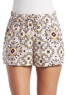 FRENCH CONNECTION Electric Mosaic Drape Shorts