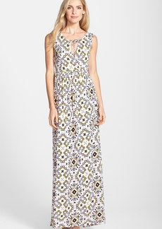 French Connection 'Electric Mosaic' Print Cutout Maxi Dress