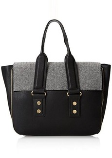 French Connection Elite Tote,Black Tweed Multi,One Size