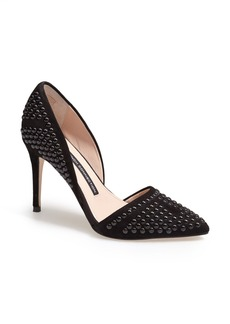 French Connection 'Ellis' Studded Nubuck d'Orsay Pump