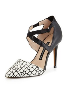 French Connection Elma Croc-Print Pointed-Toe Pump